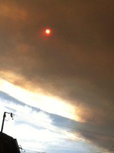 Bushfire sky Croydon